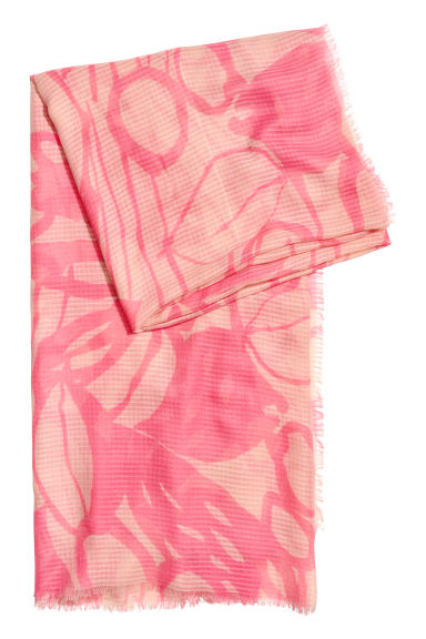 Large scarf - Pink - Ladies | H&M