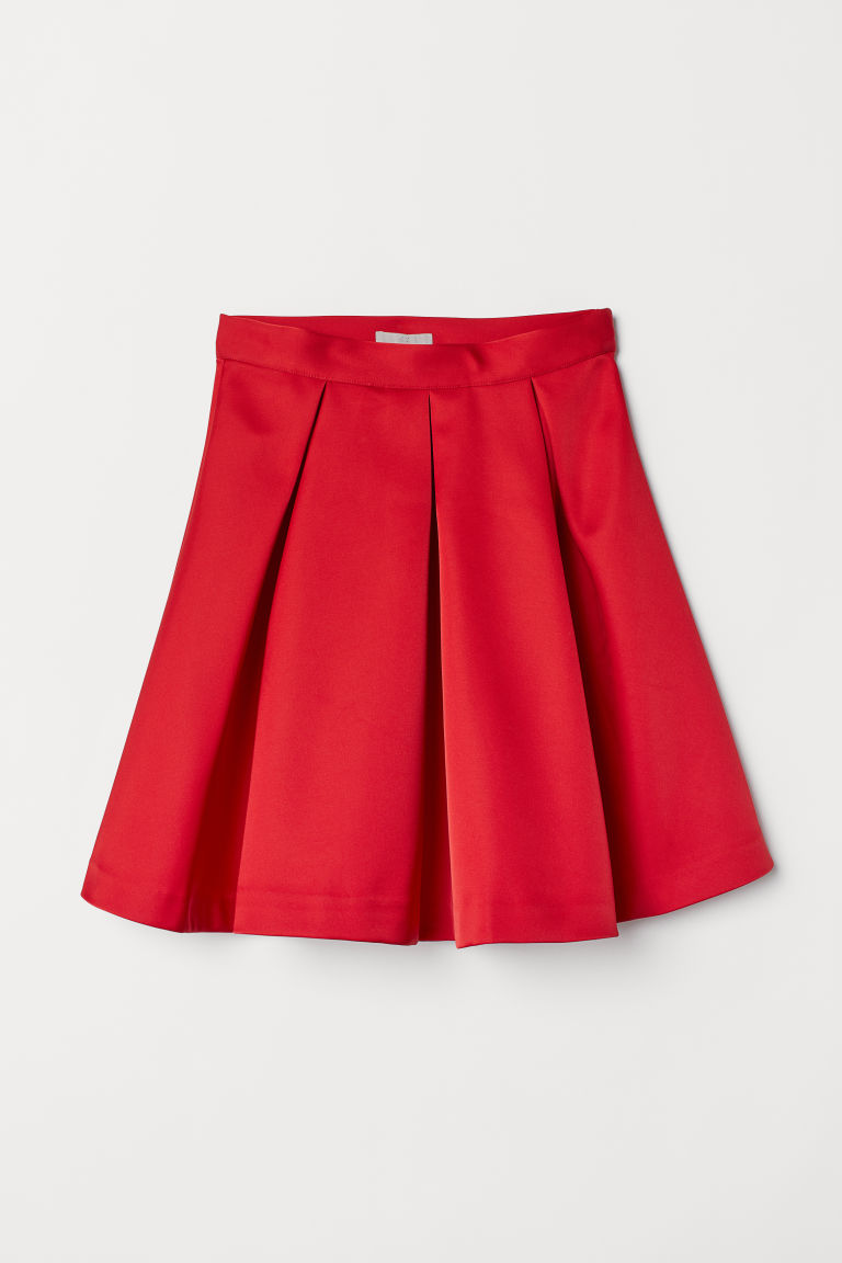Bell-shaped skirt - Red - Ladies | H&M