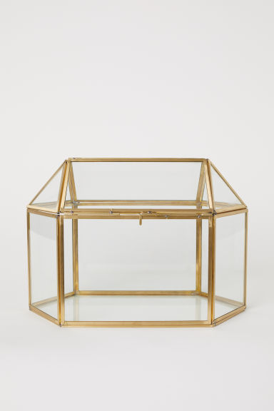 Mini Greenhouse - Gold-colored/clear glass - Home All | H&M US