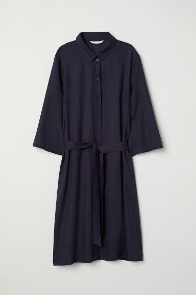 Shirt dress - Dark blue - Ladies | H&M