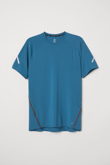 Short-sleeved running top - Turquoise - Men | H&M