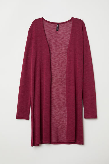 Fine-knit Cardigan - Dark red - Ladies | H&M US