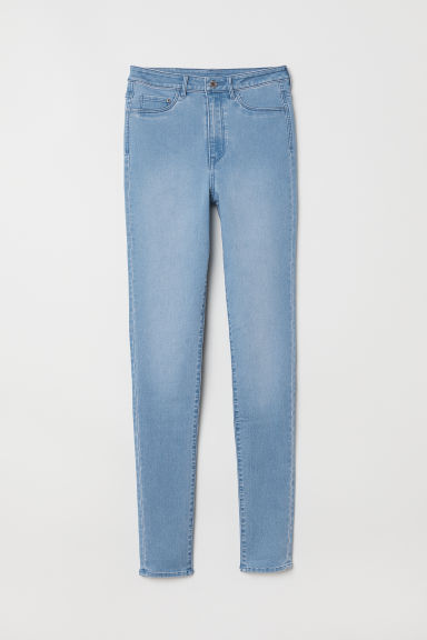 Super Skinny High Jeggings - 浅蓝色 - 女 | H&M CN