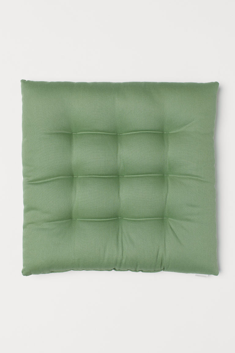 Cuscino per sedia in twill - Verde - HOME | H&M IT
