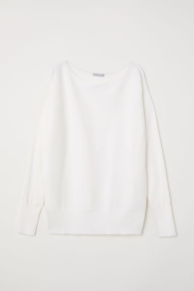 Ribbed top - White - Ladies | H&M GB