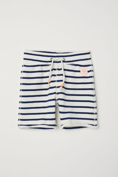 Terry shorts - Natural white/Striped -  | H&M CN