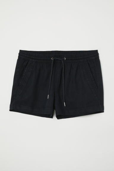 Short lyocell shorts - Black - Ladies | H&M CN