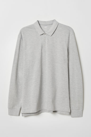 Polo Regular Fit - Gris jaspeado claro - HOMBRE | H&M ES