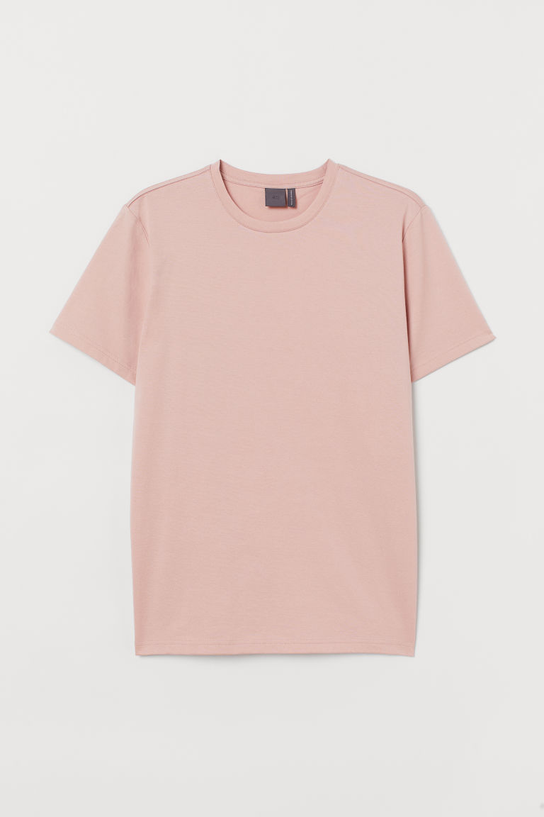 Premium cotton T-shirt - Powder pink - Men | H&M IN