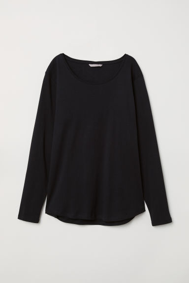 H&M+ Jersey top - Black -  | H&M GB