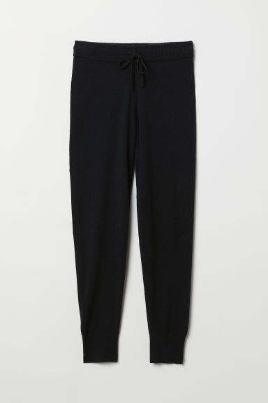 Cashmere joggers - Black - Ladies | H&M CN