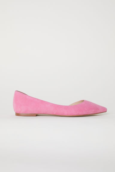 Suede ballet pumps - Pink - Ladies | H&M