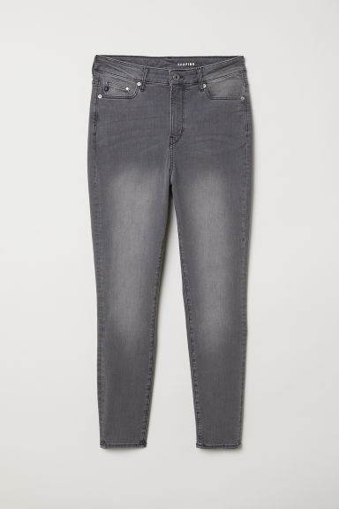 H&M+ Shaping Skinny High Jeans - Lichtgrijs -  | H&M BE