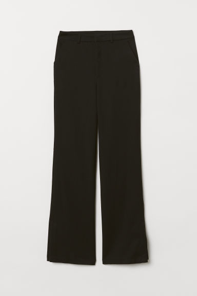 Trousers with slits - Black -  | H&M CN