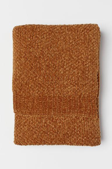 Couverture en fil chenille - Ocre - Home All | H&M CA