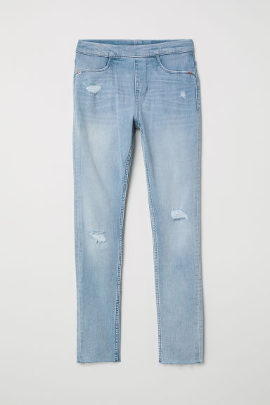 Denim leggings - Light denim blue - Kids | H&M CN