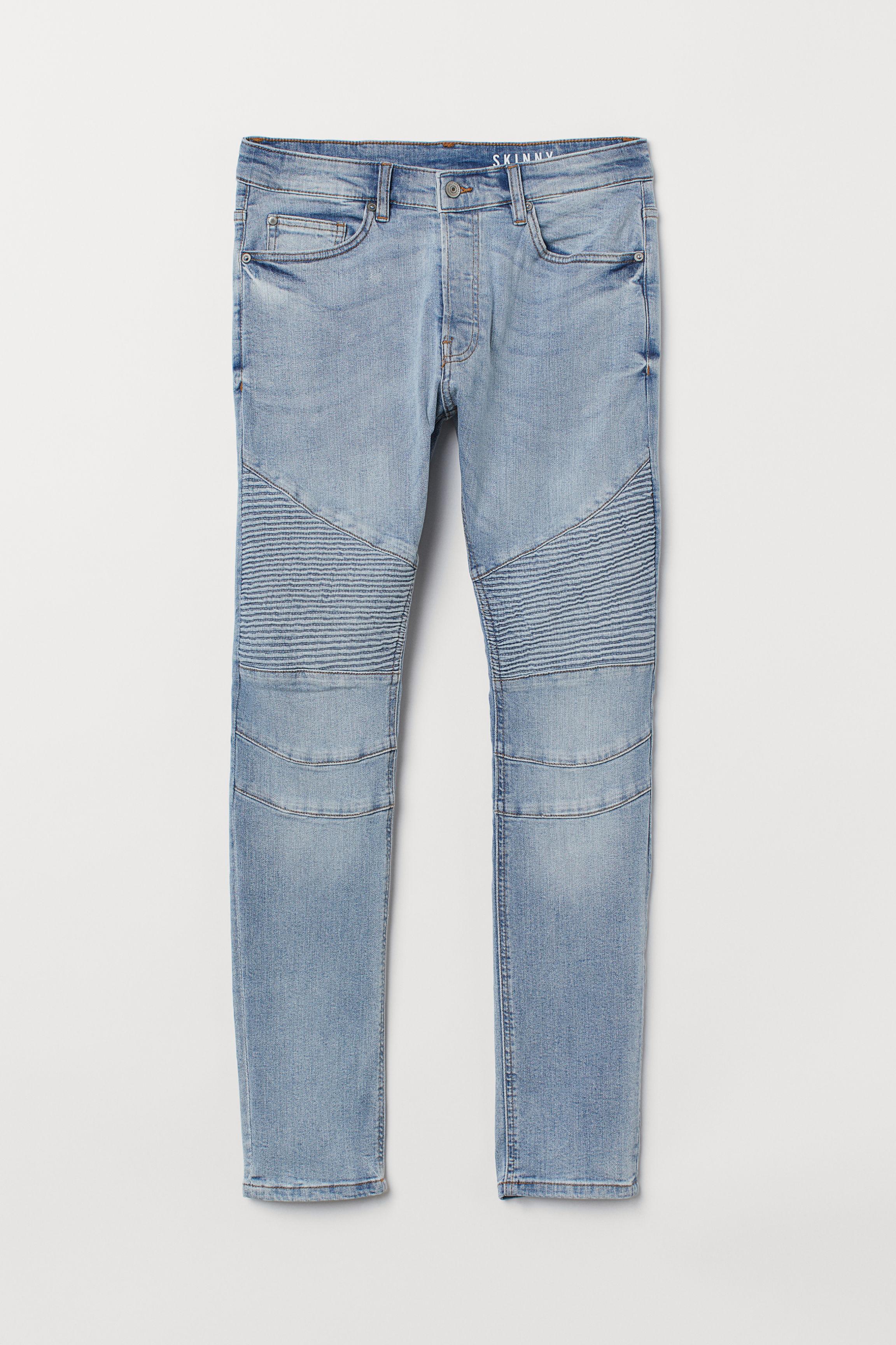 9e8e797d35b Skinny Biker Jeans - Light denim blue - Men | H&M US