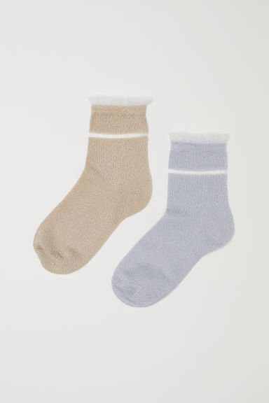 2-pack socks - Gold-coloured/Silver-coloured - Kids | H&M