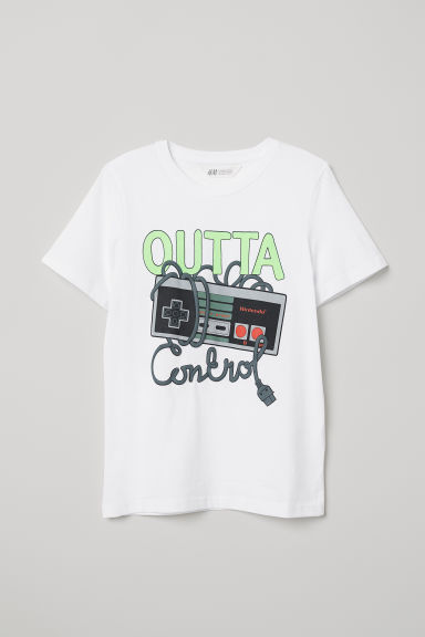 T-shirt with a motif - White/Nintendo -  | H&M