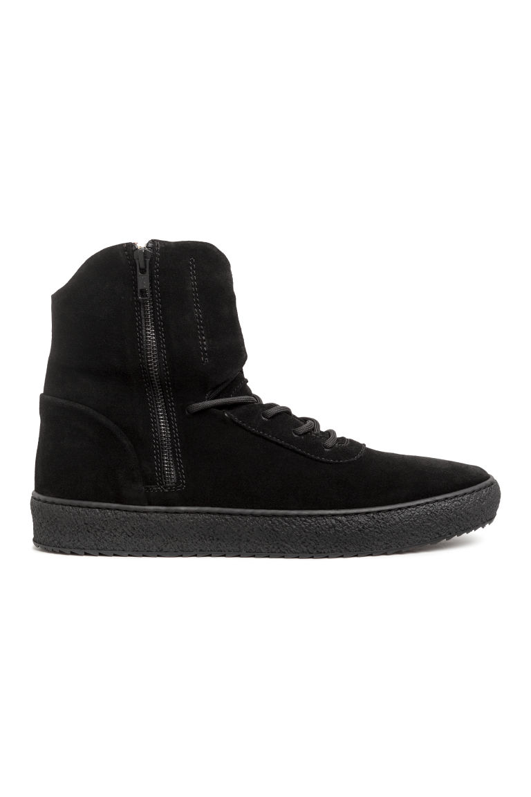 Suede hi-tops - Black - Men | H&M CN