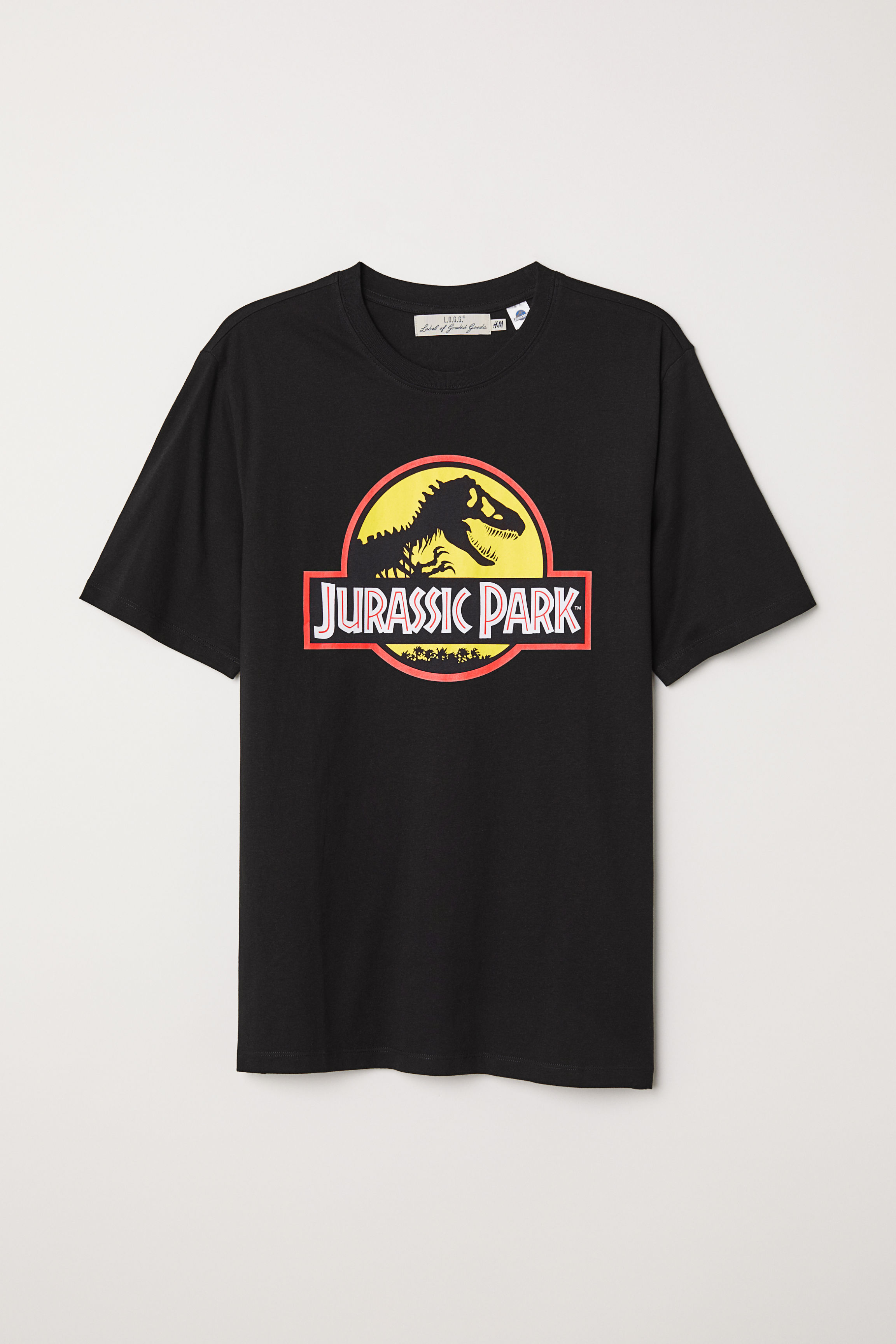 T-shirt with Printed Design - Black/Jurassic World - Men | H&M US