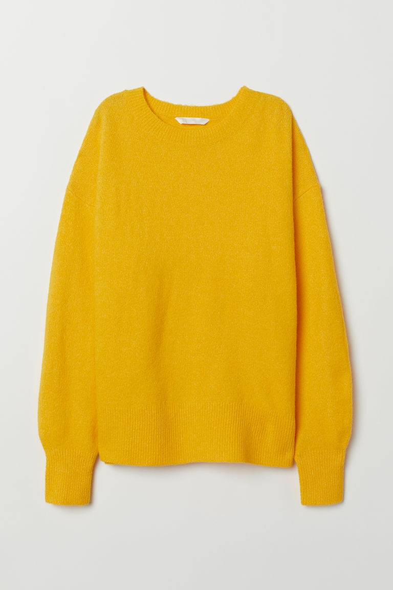 H&M+ Fine-knit jumper - Yellow - Ladies | H&M