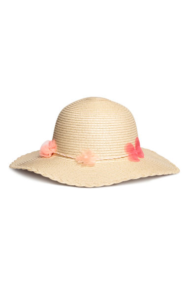 Glittery straw hat - Natural - Kids | H&M