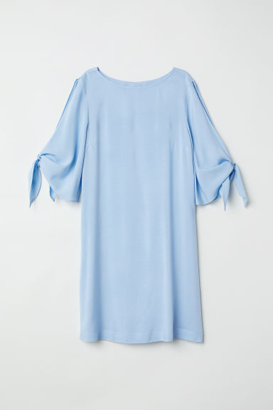 Tie-sleeved dress - Light blue - Ladies | H&M CN