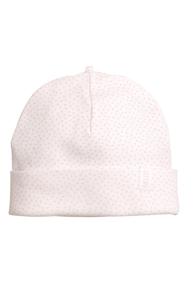 Lot de 2 bonnets en jersey - Rose poudré - ENFANT   H M ... cbec9c40d6e