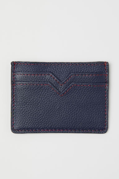 Leather card holder - Dark blue - Men | H&M CN