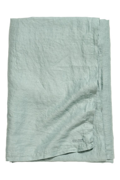 Washed linen tablecloth - Dusky green - Home All | H&M CN