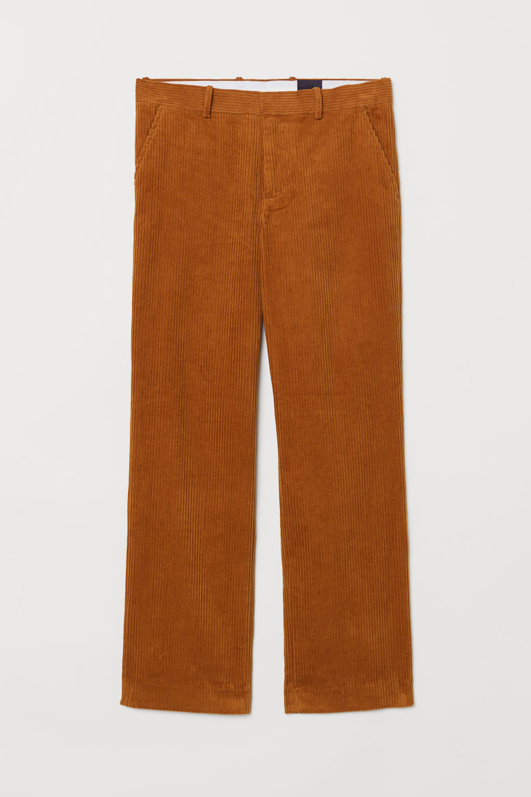 Corduroy trousers - Rust brown - Men | H&M CN