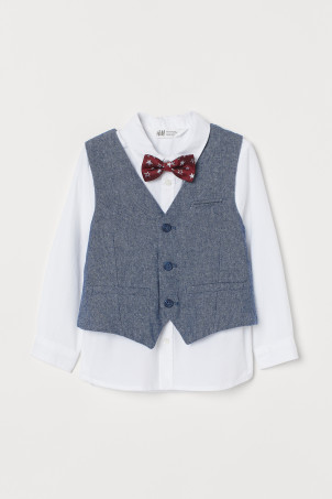Shirt with a waistcoat