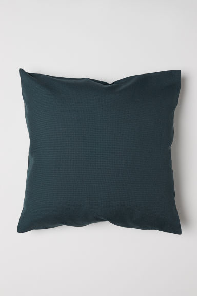 Canvas cushion cover - Dark green - Home All | H&M CN