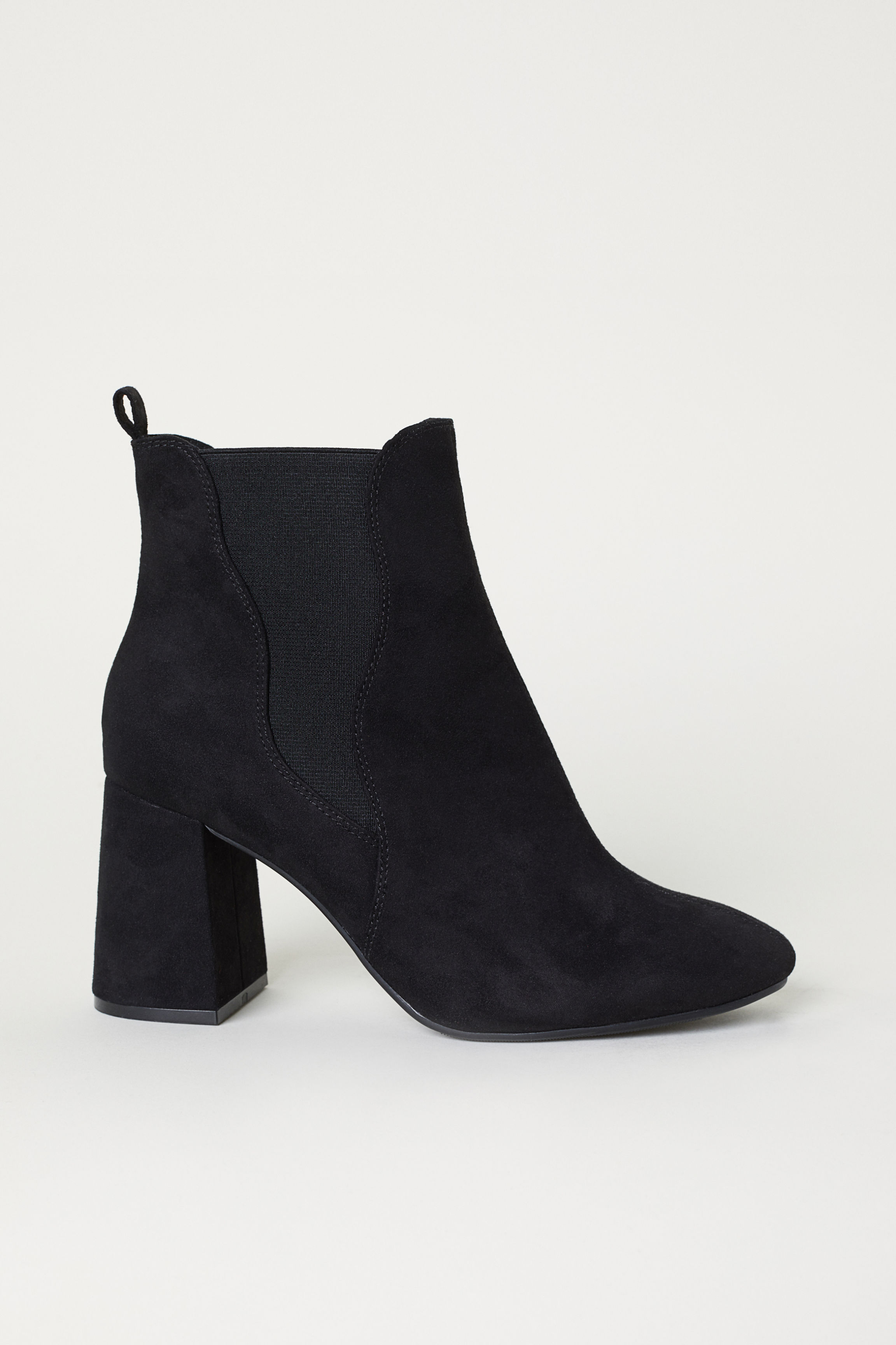 3db347125ab Ankle Boots with Side Panels - Black floral -