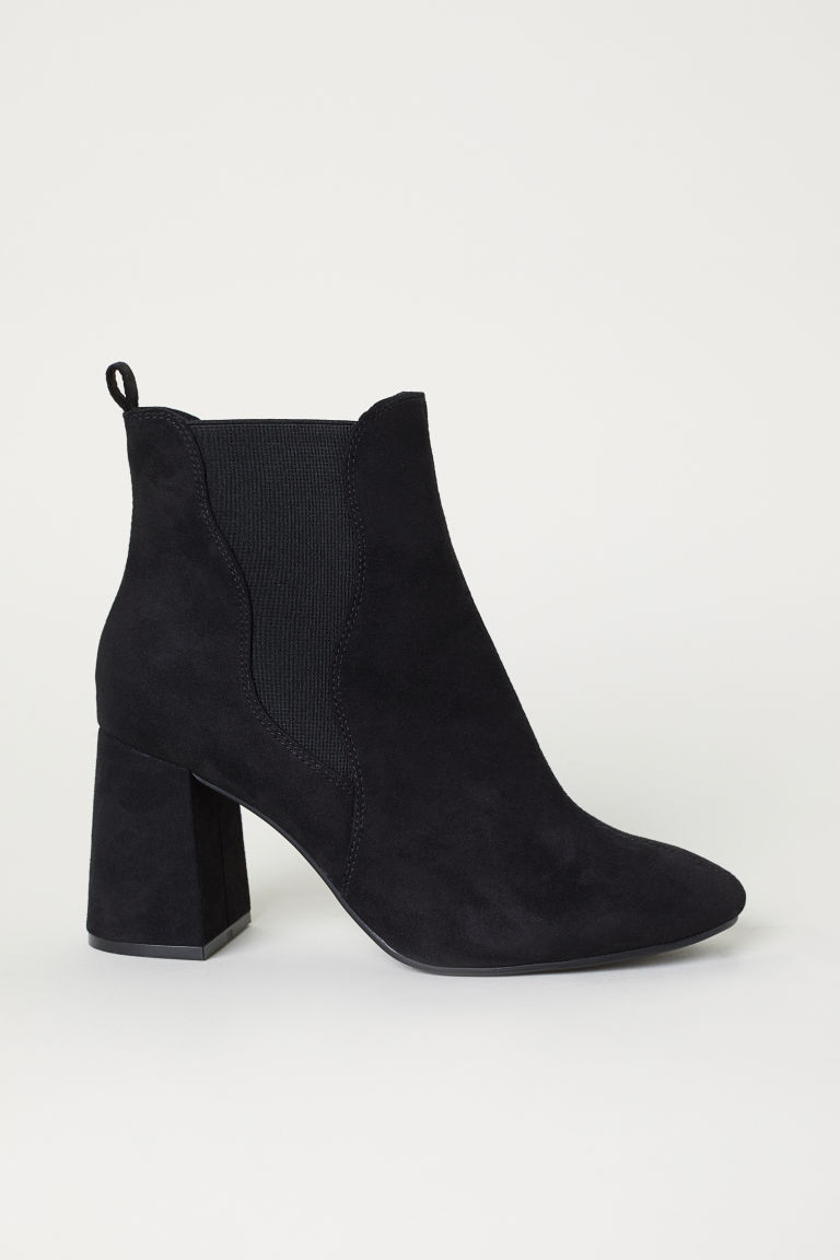 Ankle Boots with Side Panels - Black -  | H&M US