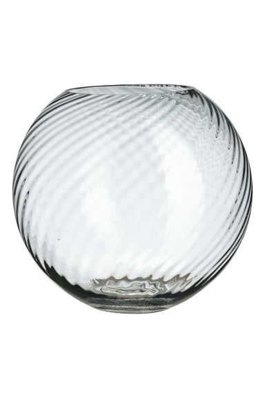 Large clear glass vase - Clear glass -  | H&M CN