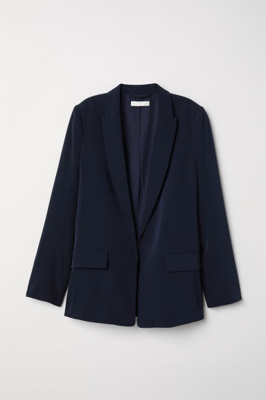 Straight-cut jacket - Dark blue - Ladies | H&M IE