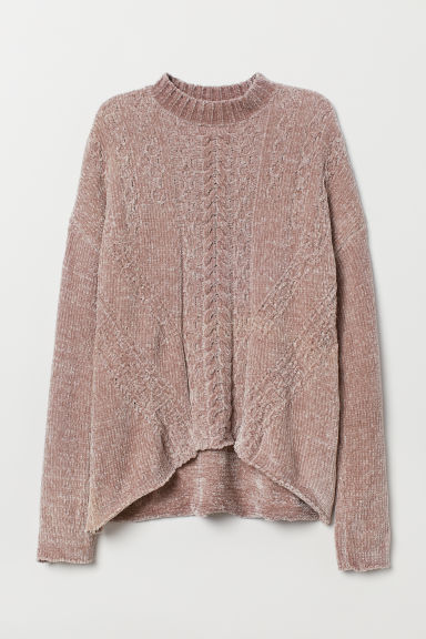 Knitted jumper - Dusky pink -  | H&M