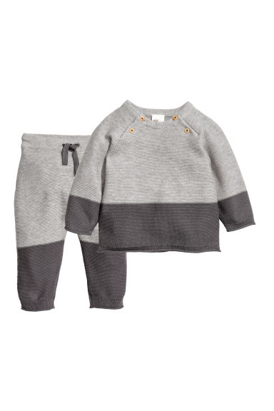 Cotton jumper and trousers - Grey -  | H&M CN