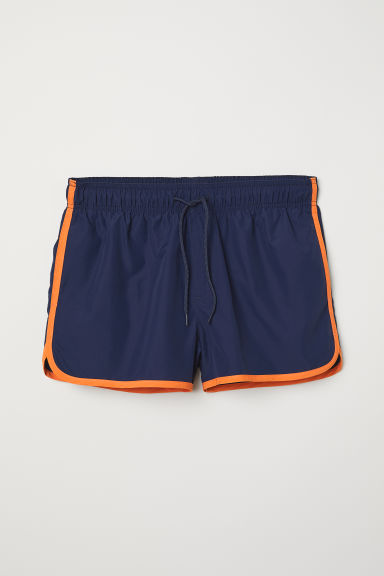 Short swim shorts - Dark blue/Orange - Men | H&M CN