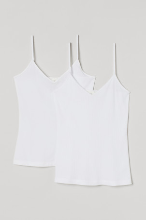 2-pack V-neck strappy tops