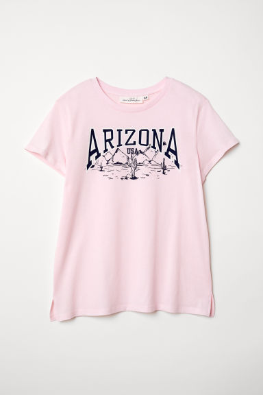 Printed T-shirt - Light pink/Arizona - Ladies | H&M CN