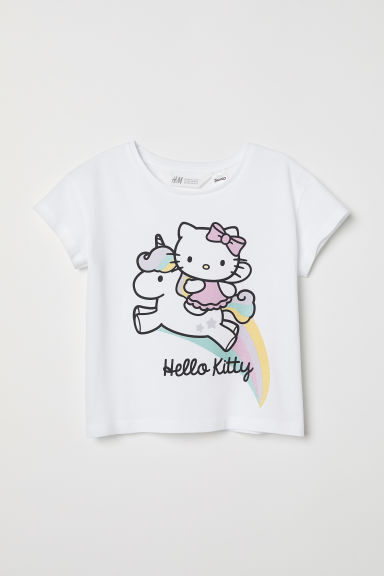 T-shirt met print - Wit/Hello Kitty - KINDEREN | H&M BE