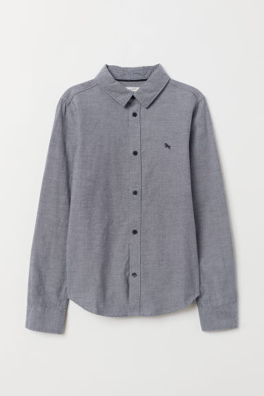 Cotton shirt - Dark grey - Kids | H&M IE