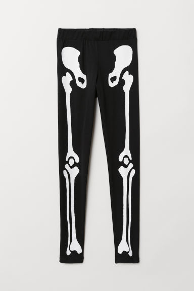 Jersey leggings - Black/Skeleton -  | H&M