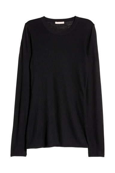 Merino wool jumper - Black - Ladies | H&M GB