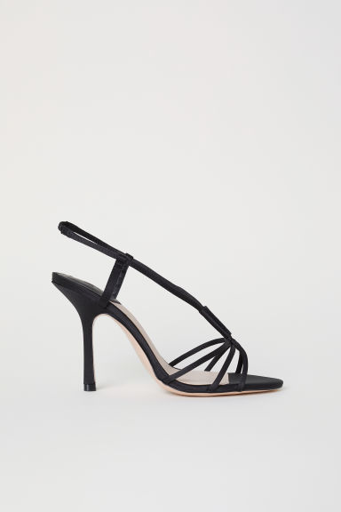 Sandali in satin - Nero - DONNA | H&M IT