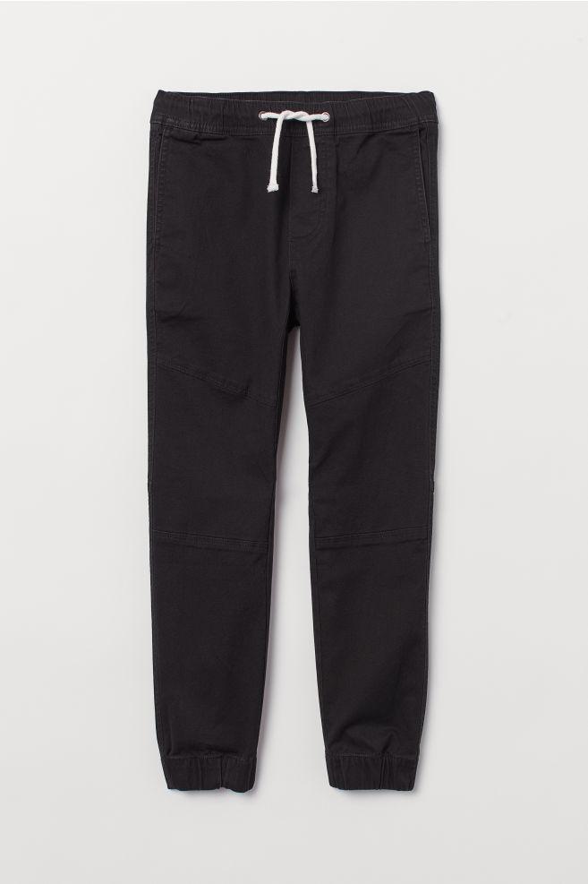 1c48cd4c Pull on-bukse i twill - Sort - BARN   H&M ...
