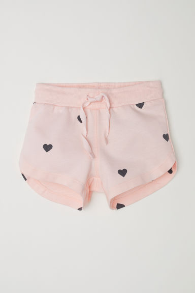 Patterned shorts - Peach/Hearts - Kids | H&M CN